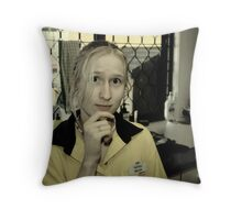 My Brother Just Got A Job Replacing A Machine That Found The Work Too Boring!! Throw Pillow