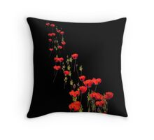 The March of the Poppies Throw Pillow