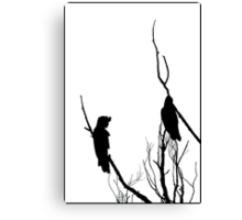 Winter Silhouette - Black Cockatoos Canvas Print