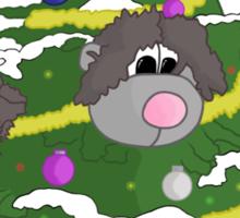Christmas tree bear Sticker