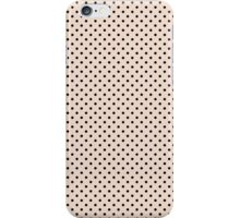 Polkadots Beige and Black iPhone Case/Skin
