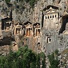 Lycian Tombs at Dalyan Close Up by taiche