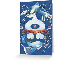 Team Aqua Crest  Greeting Card