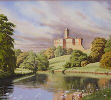 Warkworth castle from river Coquet by Brian Towers