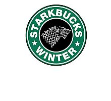 Starkbucks - Game of thrones house stark parody Photographic Print
