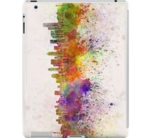 Seattle skyline in watercolor background iPad Case/Skin