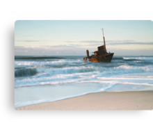 The Wreck of the Sygna - Stockton Beach, NSW Canvas Print