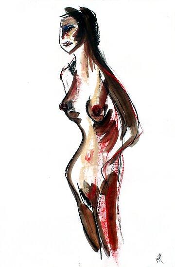 Female standing by Byron  Tik