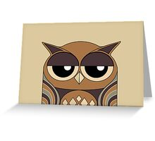 UNDERSTANDING OWL PORTRAIT Greeting Card
