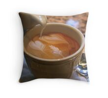 hearts in my coffee Throw Pillow
