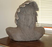 War chief 2 back of head this is just in wet clay  by Stephan  Kraft