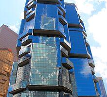 Geometrical Building - Hong Kong by Tiffany Lenoir