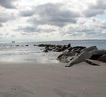 beach on a cloudy day by etccdb