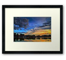 A Tranquil Summers Evening Framed Print