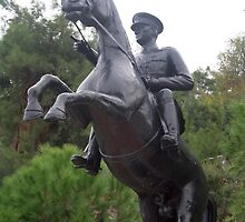 Ataturk on Horseback by taiche