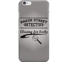 Baker Street Detective (Black) iPhone Case/Skin