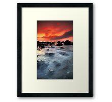 Morning Red Framed Print
