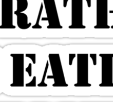 Right Now, I'd Rather Be Eating Mussels - Black Text Sticker