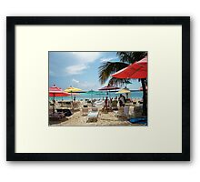 DISNEY BEACH Framed Print