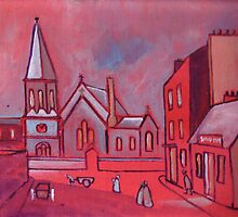 Saint Pauls Church Whitley Bay England in circa 1900 (from my original acrylic) by sword
