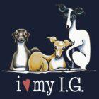 Italian Greyhound Lover {White Type} by offleashart