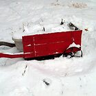 Little Red Wagon In The Snow by Jane Neill-Hancock