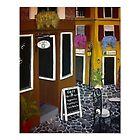 Outdoor cafe Painting by Melissa Goza