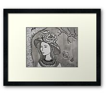 Tea Time Under the Tree Framed Print