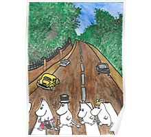 Moomins Parody Abbey Road  Poster