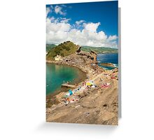 Sunbathing at the islet Greeting Card
