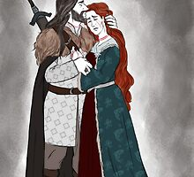 Lord and Lady Stark  by bluesparkle