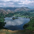 Grasmere from Loughrigg Fell Lake District England 198405200028  by Fred Mitchell