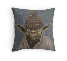 Christmas Yoda Throw Pillow