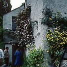 Entrance to Dove Cottage Grasmere Lake District England 198405200033 by Fred Mitchell