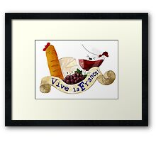 Basket of Delicious French Treats Framed Print