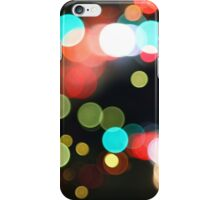 Abstract Colorful Round Bokeh Lights iPhone Case/Skin