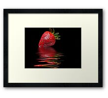 Strawberry Ripple Framed Print