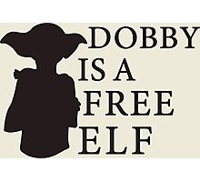 Dobby is a free elf - Type 2 Photographic Print