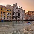 Sunset in Venice by Claudia Reitmeier