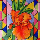 Stained glass flower by judith murphy