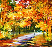 THE PATH OF SUN BEAMS - Leonid Afremov Landscape by Leonid Afremov