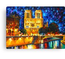 NOTRE DAME DE PARIS - Leonid Afremov CITYSCAPE Canvas Print