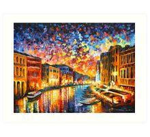 VENICE - GRAND CANAL - Leonid Afremov CITYSCAPE Art Print