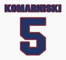 National Hockey player Zenith Komarniski jersey 5 by imsport