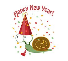 Happy New Year Snail by Eggtooth