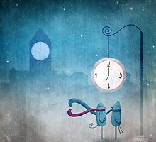 Lovebirds Meet at 7:00 by Lina Forrester