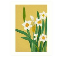 Daffodils from Amphai Art Print
