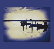 Magical reflection of a small dinghy dory boats T-Shirt