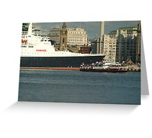 The QE2 VISITS LIVERPOOL FOR THE LAST TIME-4 Greeting Card