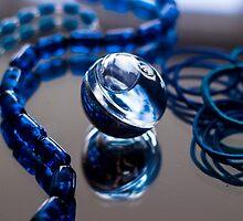 Blue Bubble - Macro Photography by JuliaRokicka